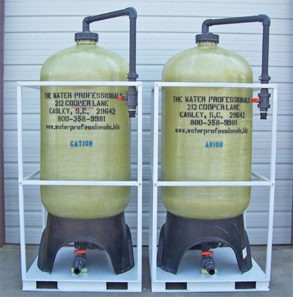 Jumbo Service Deionization Resin Tanks