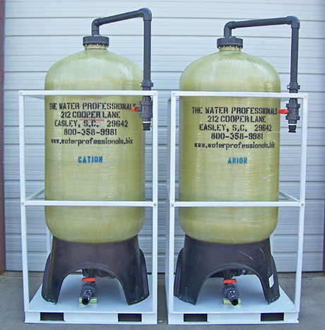 Anion and Cation Resin Tanks